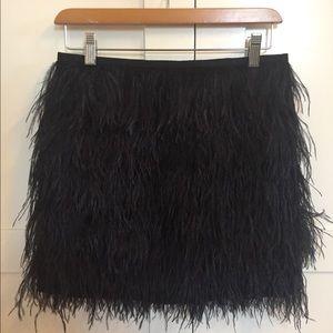 Michael Kors black ostrich feather skirt size 0